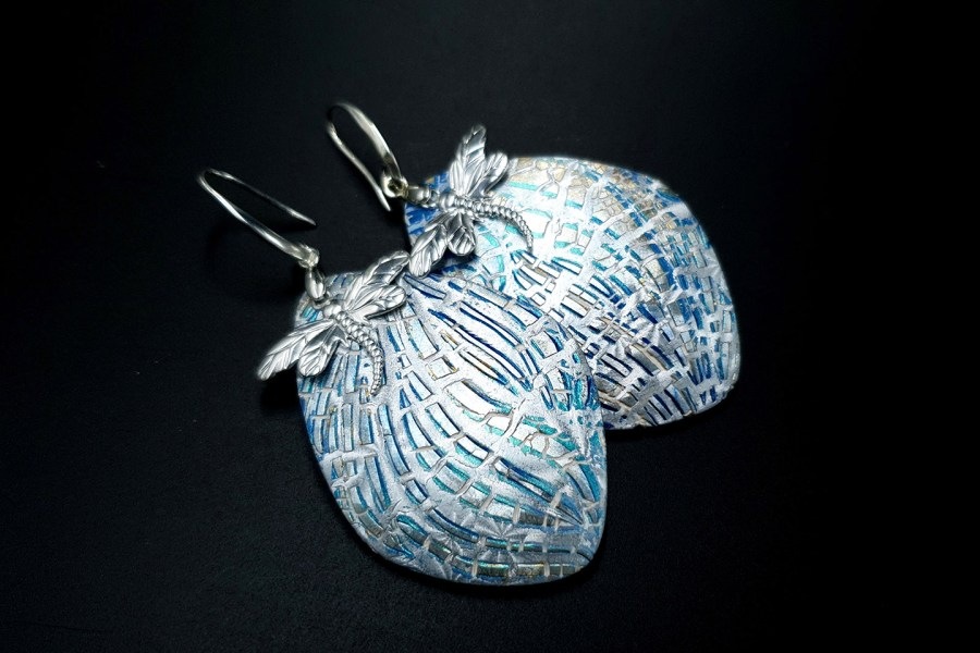 Earrings Winter Dragonflys 1