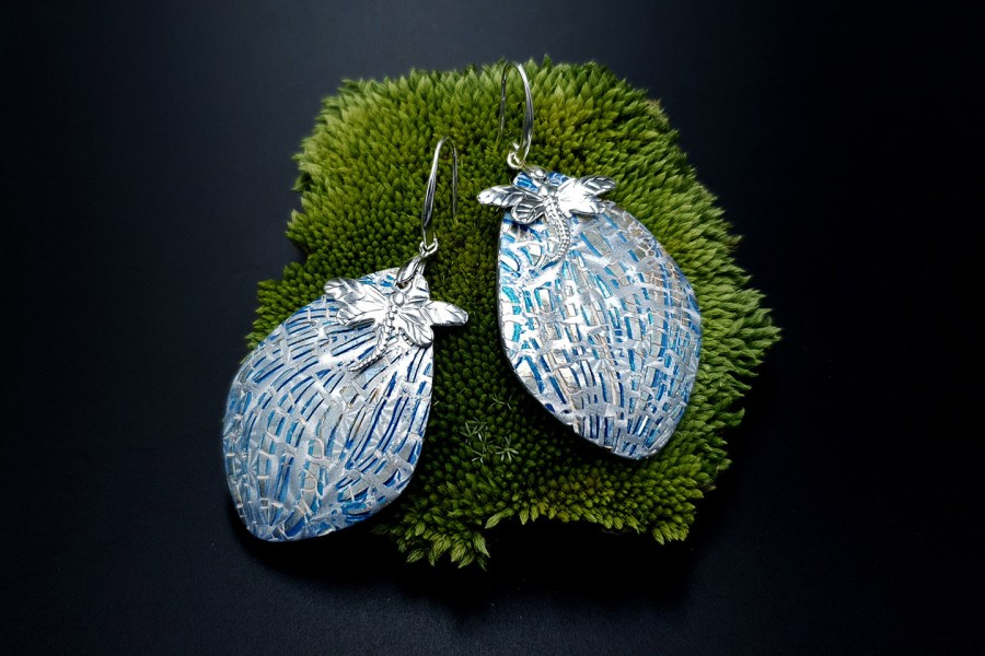 Earrings Winter Dragonflys 7