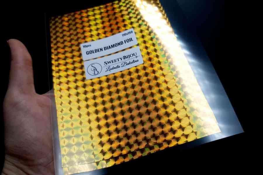 Golden Diamond Foil (10 pcs) 6