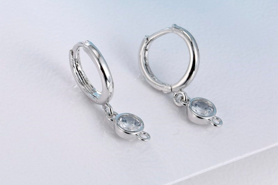 "Crystal Earrings Findings ""Elegant Drops"" 2 pcs 1"