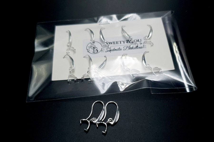 5 pairs (10 pcs) of earring with Bail Pinch 8