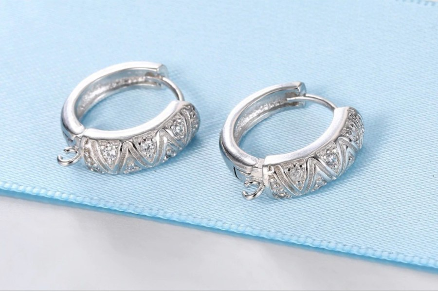 "High Quality Earring Findings ""Elegant Style"" 2 pcs 4"