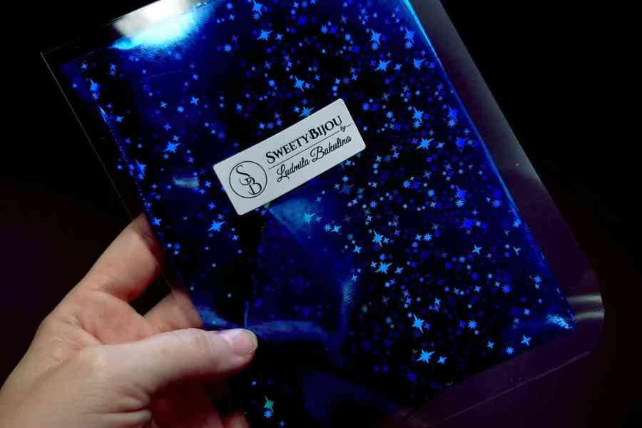 Blue Stars Foil (10 pcs) 1