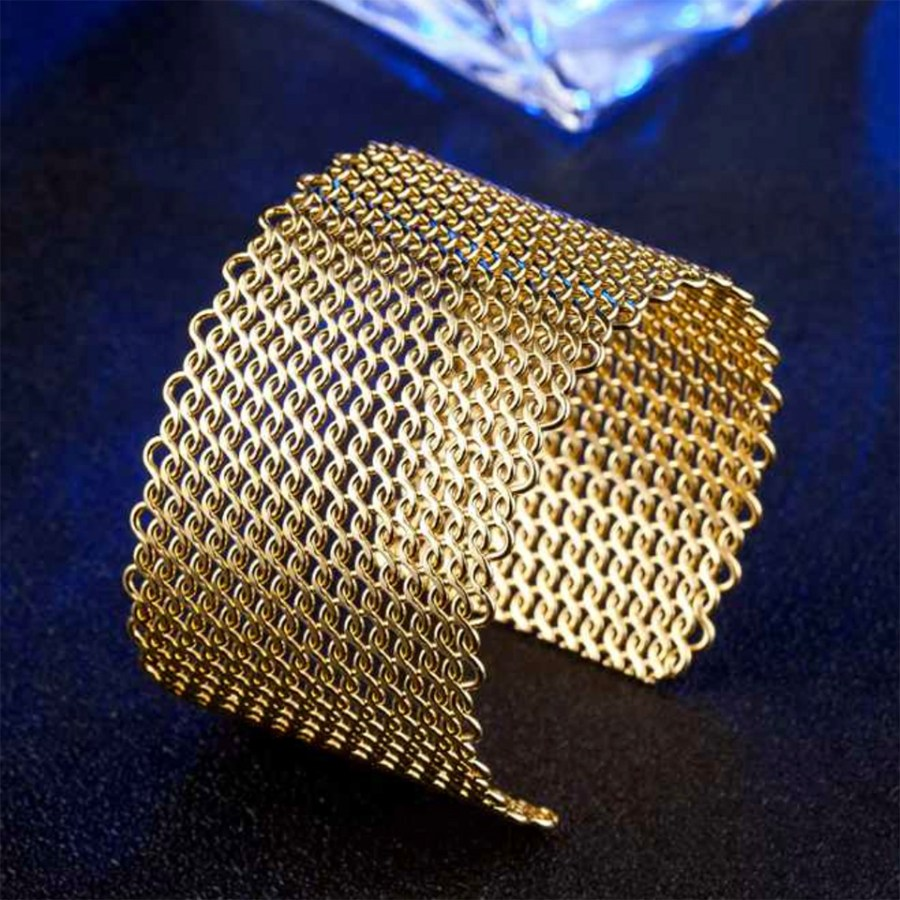 Metal gold color textured bracelets tool for baking 6