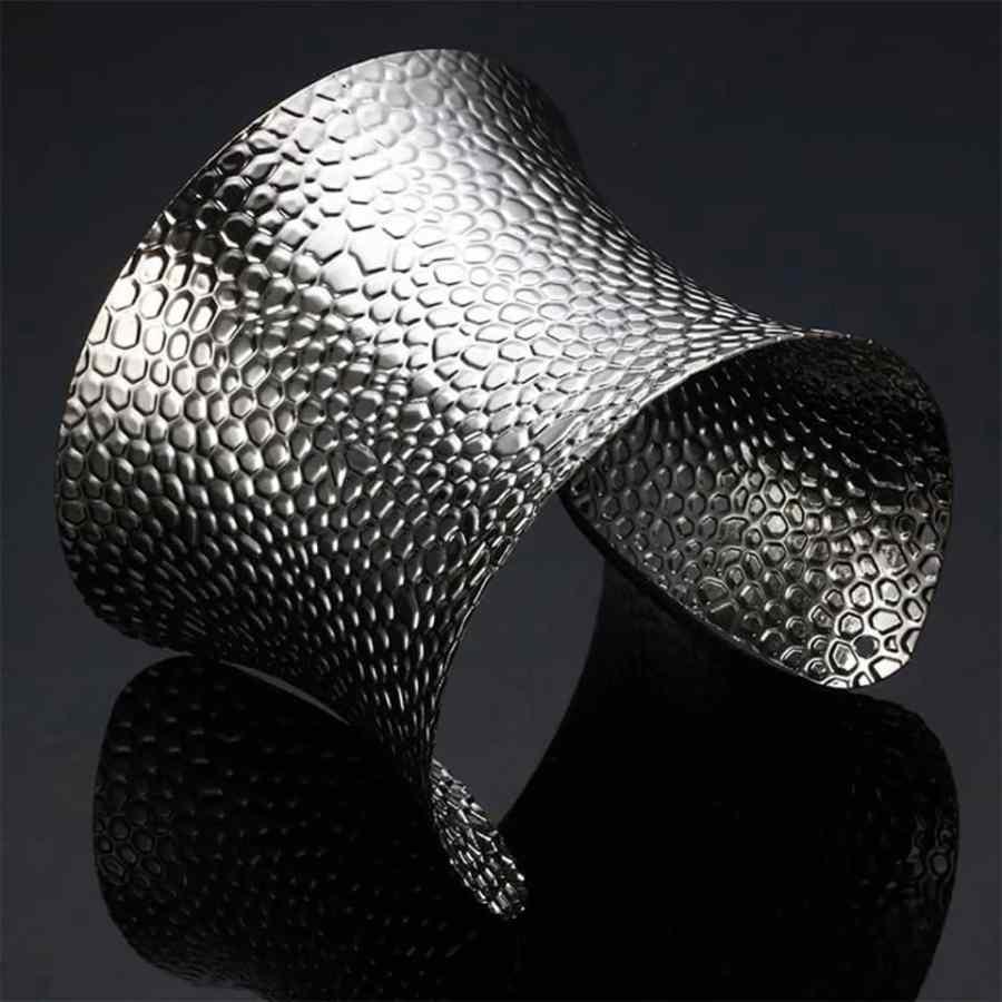 Silver color metal base for baking polymer clay bracelet