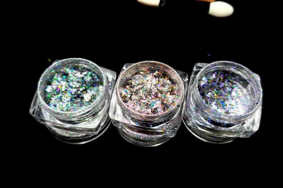 3 Aurora Chameleon Flakes, Art Glitter Powder