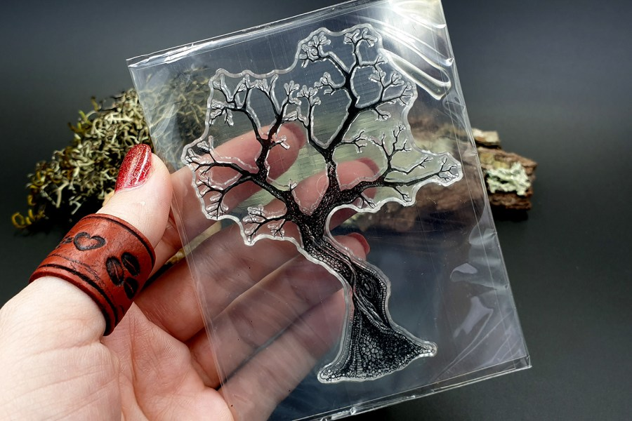 "Clear Silicone Stamp ""A Tree"" for Polymer Clay 2"