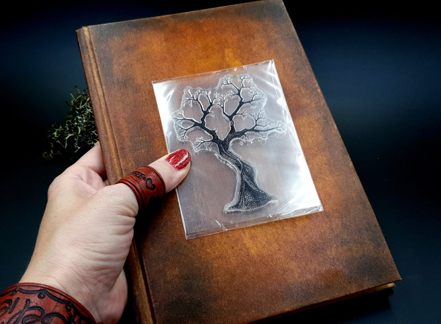 "Clear Silicone Stamp ""A Tree"" for Polymer Clay 5"