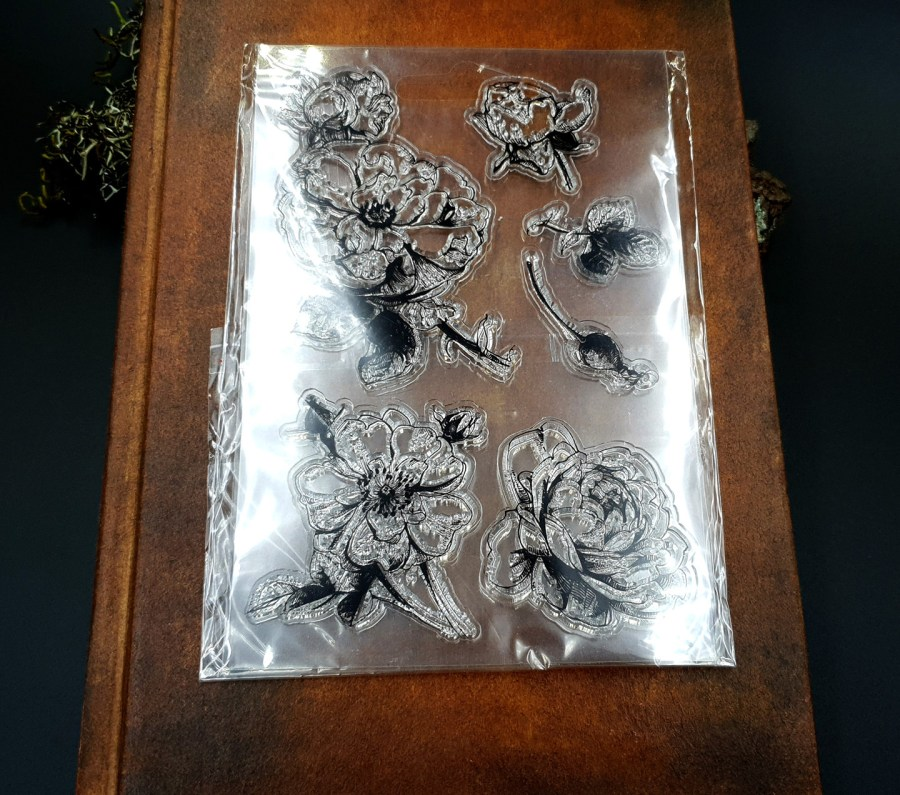"Clear Silicone Stamp ""Flowers"" for Polymer Clay 3"