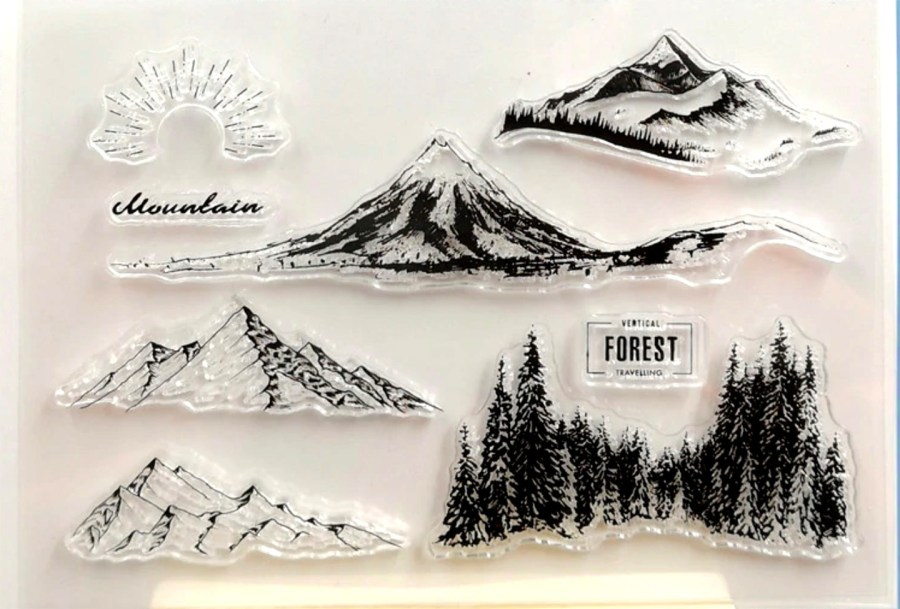 "Clear Silicone Stamp ""Forest"" 1"
