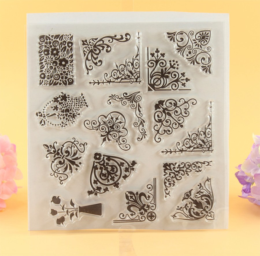 """Clear Silicone Stamp """"Corners"""" 3"""