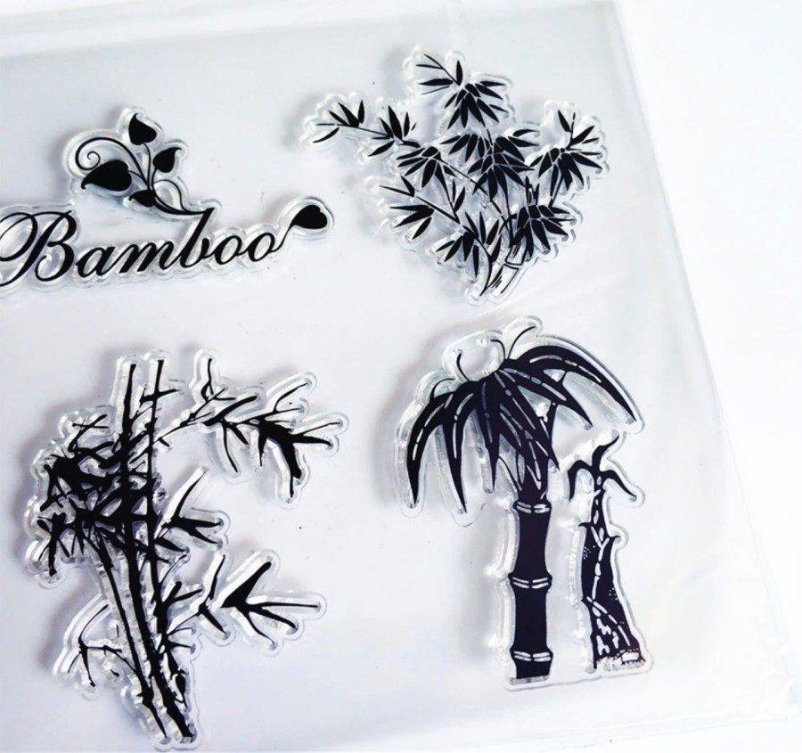 "Clear Silicone Stamp ""Bamboo"" 5"