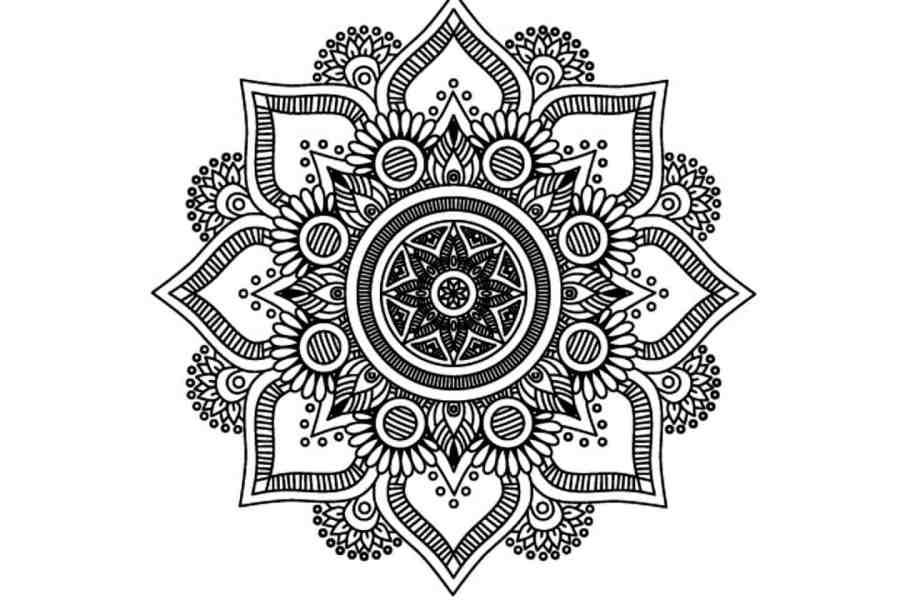 Mandala - Silicone Stamp 4