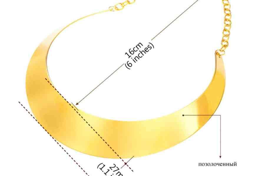 Metal Base Plain Golden Necklace 10
