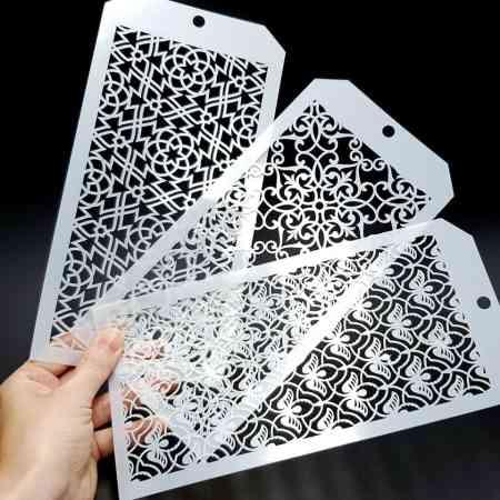 Set of 3 Magic Patterns (12x24cm)