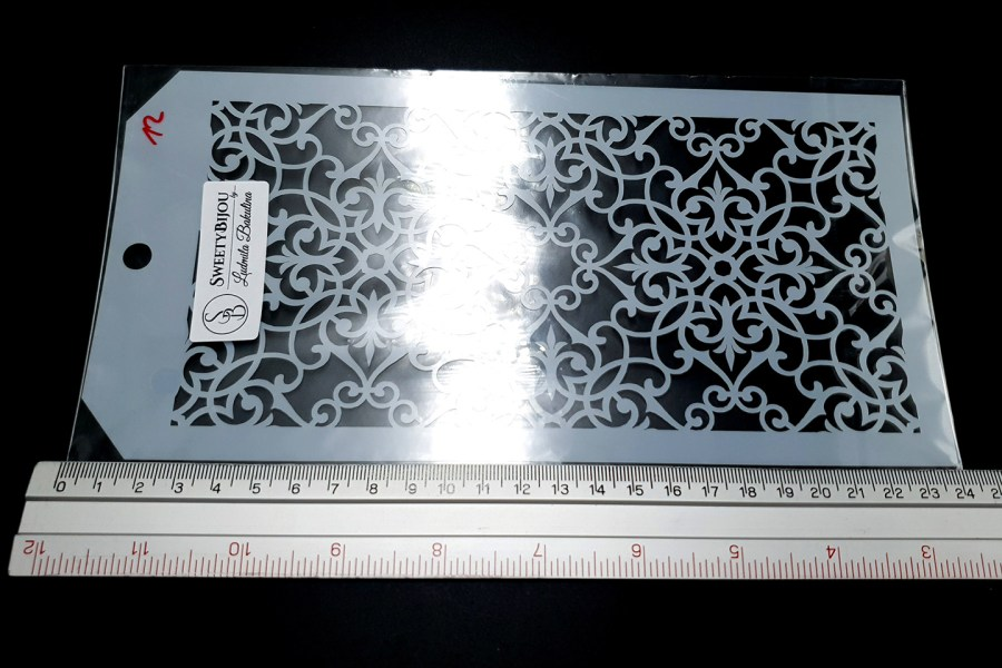 Flowered Moroccan Pattern (12x24cm) 3