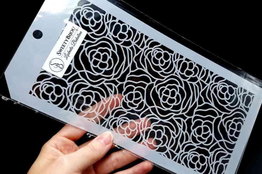 Roses Flowers Pattern (12x24cm) 1