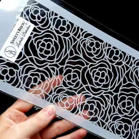 Roses Flowers Pattern (12x24cm)