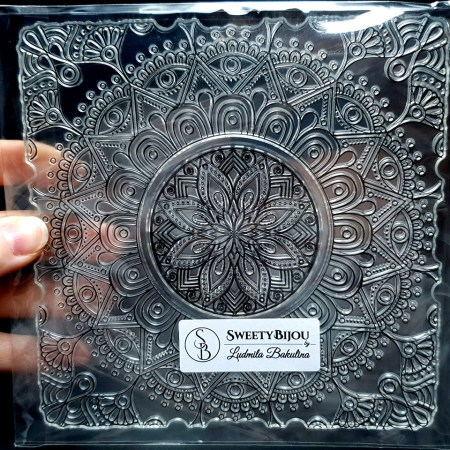 Mandala Flower Pattern (14.5×14.5cm)