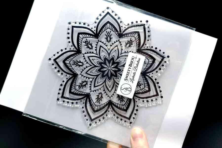 Mandala Snowflake Pattern 2 (14.5x14.5cm) 6