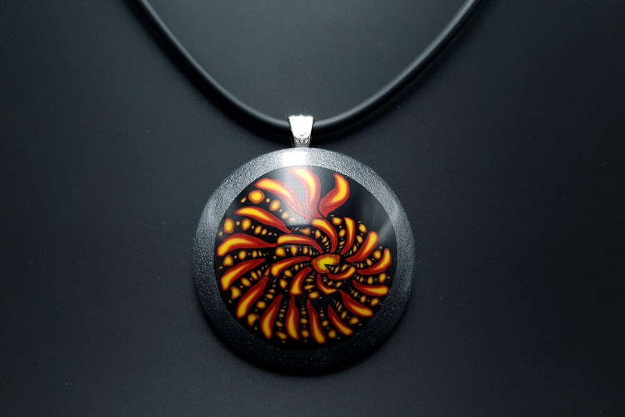 Ammonite in Black Frame 1