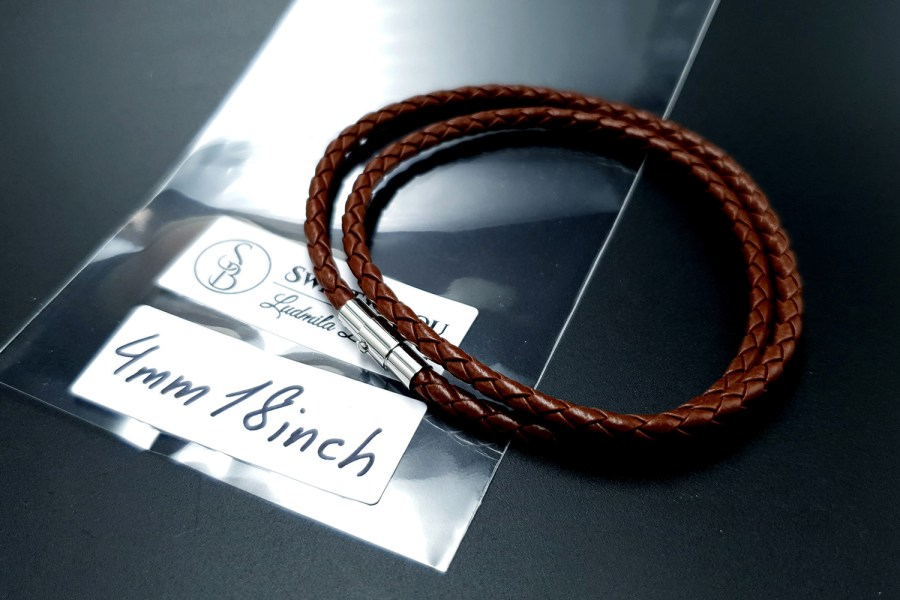 Brown Leather Cord, 18inches/45cm 5