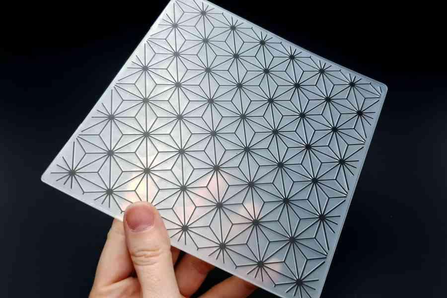 Geometric Flowers 2 (15x15) - Plastic Texture 3