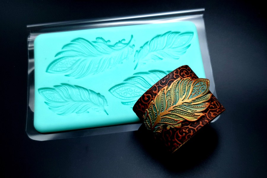 Handmade Silicone Feather Mold #1 (175x105mm) 3