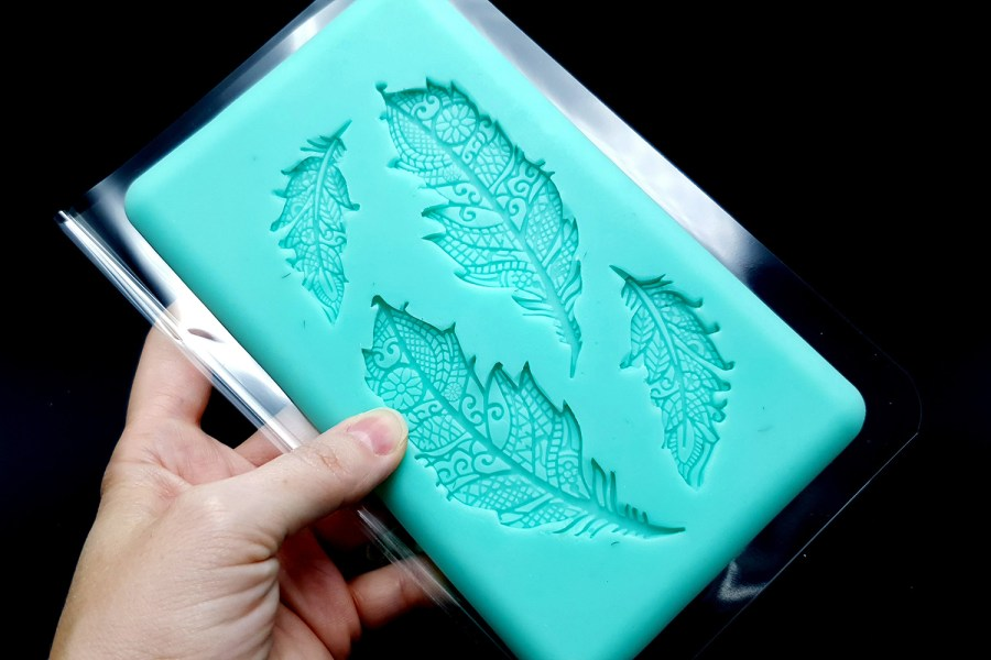 Handmade Silicone Feather Mold #2 (175x105mm) 5