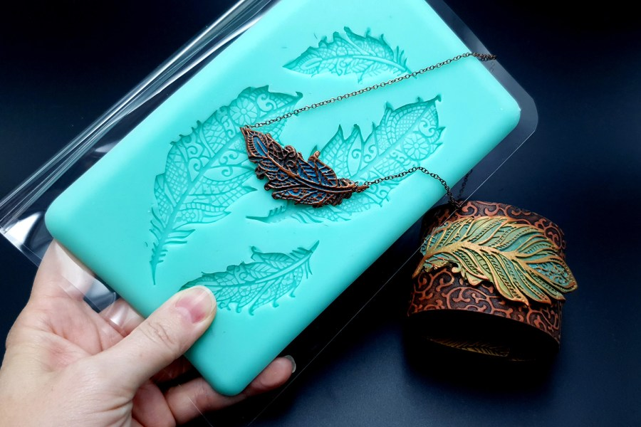 Handmade Silicone Feather Mold #2 (175x105mm) 8