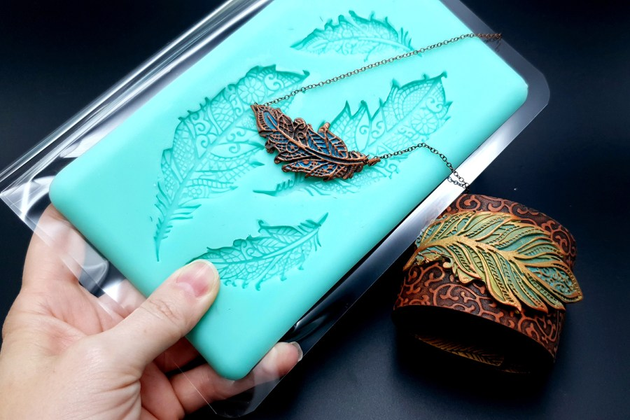 Handmade Silicone Feather Mold #2 (175x105mm) 9