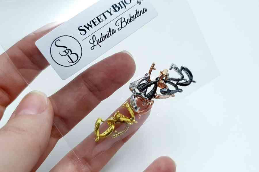 High Quality Necklace Pinch Clip Bail (set 12 pcs) 4