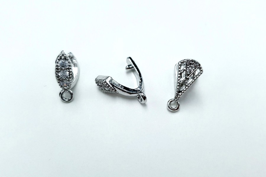 High Quality Necklace Pinch Clip Bail (set 12 pcs) 6