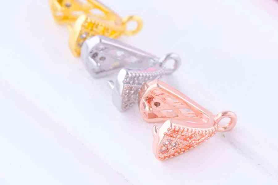 High Quality Necklace Pinch Clip Bail (set 12 pcs) 2
