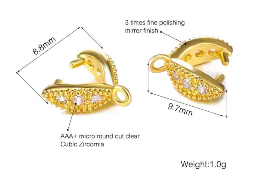 High Quality Necklace Pinch Clip Bail (set 12 pcs) 14