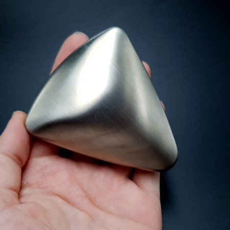 Large Triangle Domed Stainless Steel Shape Base