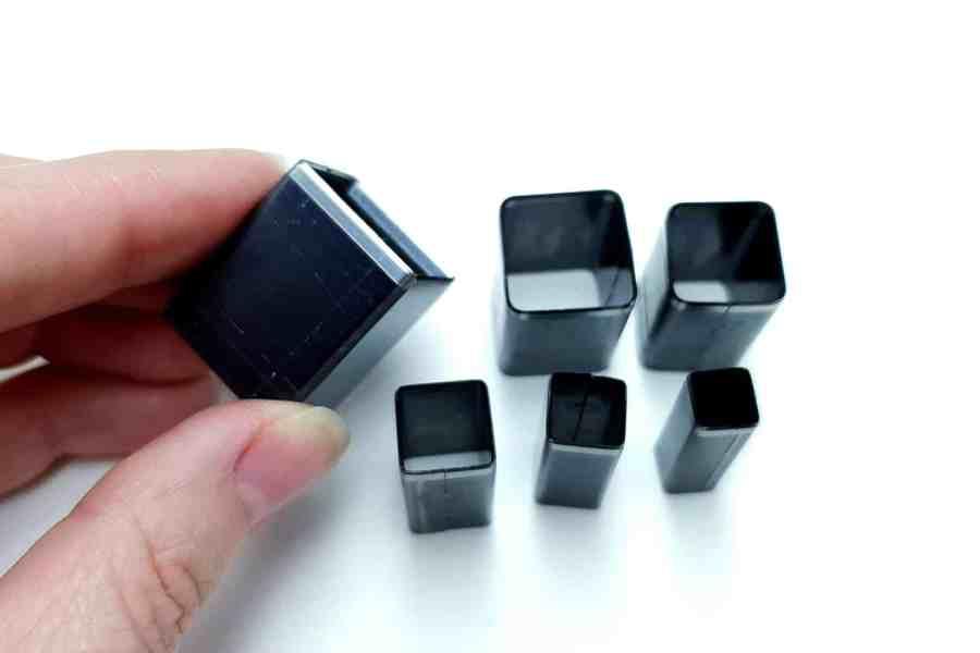 Sharp Cutters Square shape, 6pcs 10