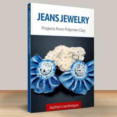 Faux Jeans/Denim Fabric: Part.5 Jeans Earrings, Style 3