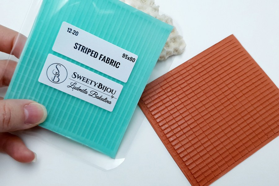 Striped Fabric, 95x80mm