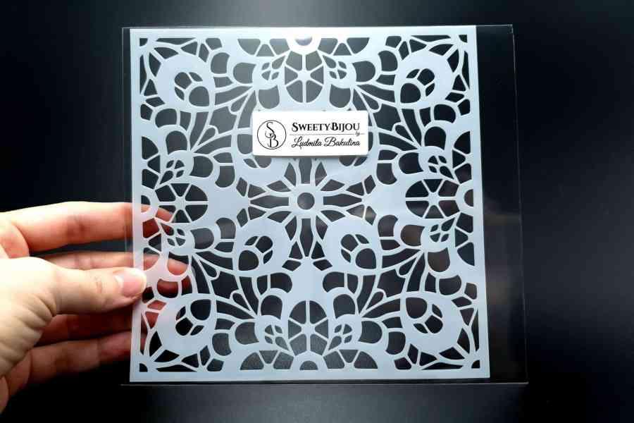 """""""Lace"""" Plastic Stencil (1pcs)"""