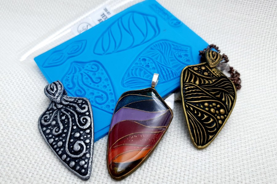 Textured Pendants and Earrings #2