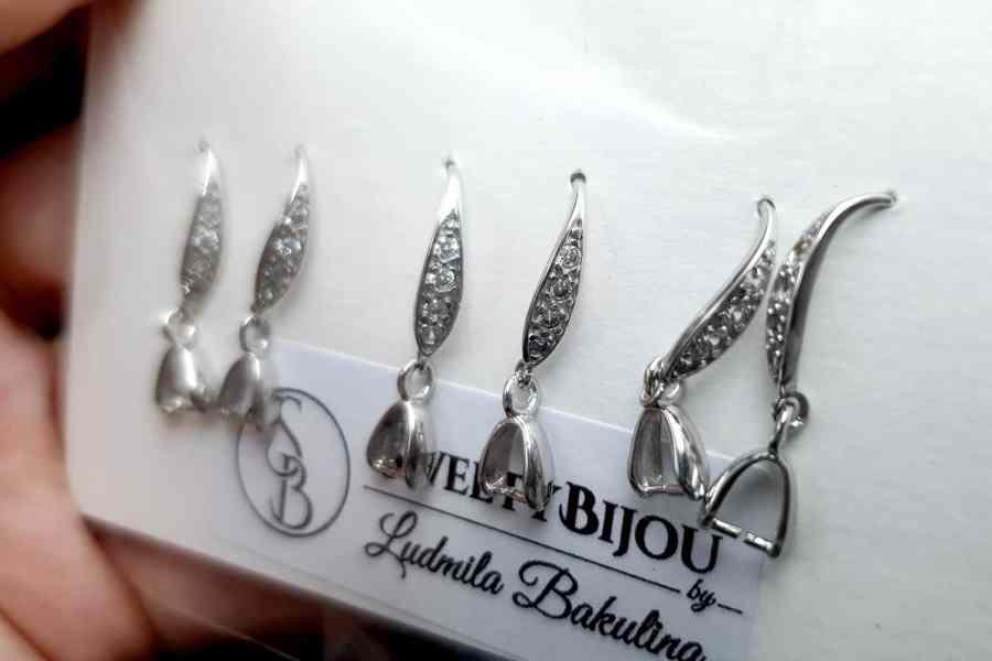 Genuine 925 Sterling Silver Clasp Hook Earrings Findings 10