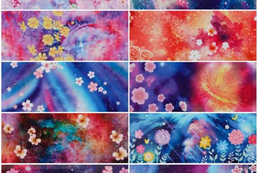 9 Unique Patterns of Colorful Flowers 6