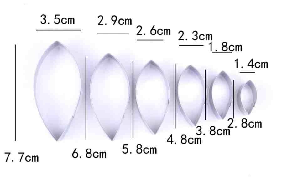 6-pcs Stainless Steel Dahlia Flower Petals Cutters 9