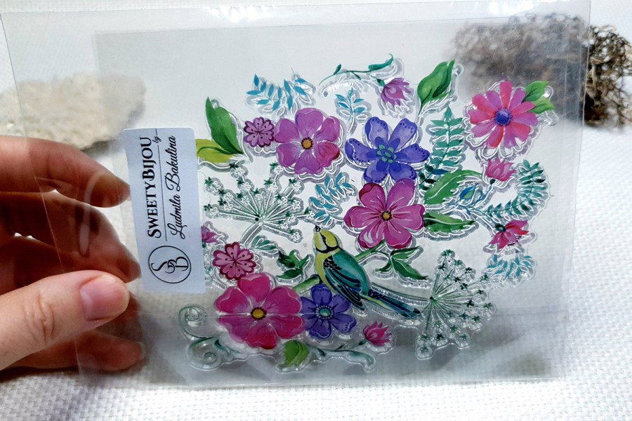 Flowers - Clear Silicone Stamp 3
