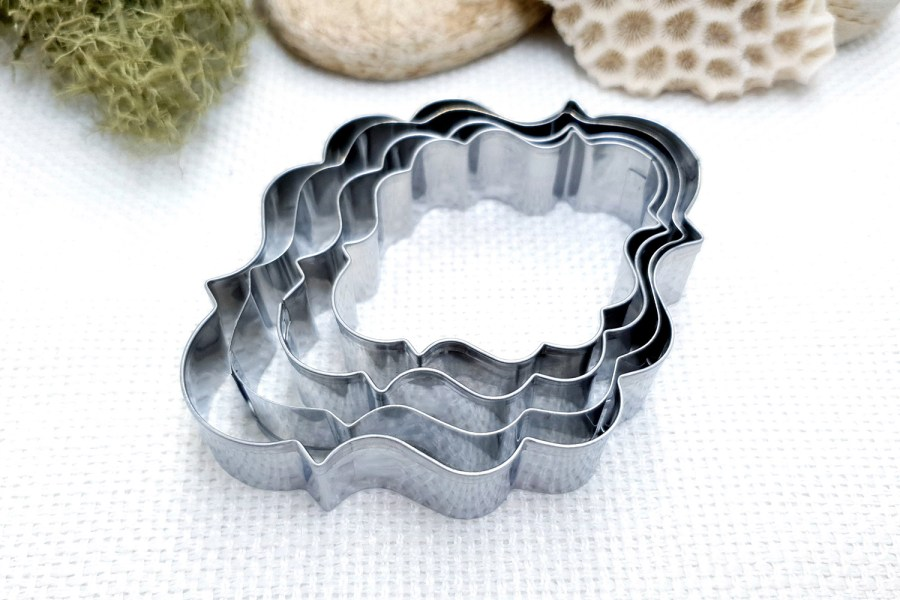 4 pcs Stainless Steel Oval Shaped Cookie Cutters 4