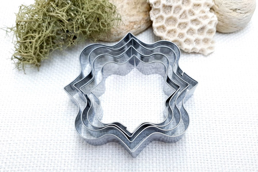 4 pcs Stainless Steel Square Shaped Cookie Cutters 4
