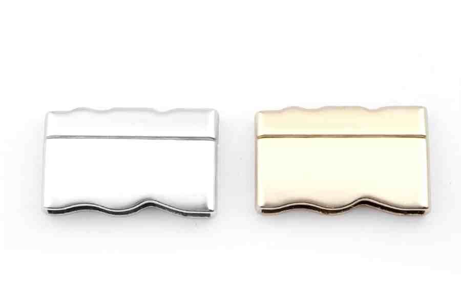 2 pcs set of silver color magnetic clasps