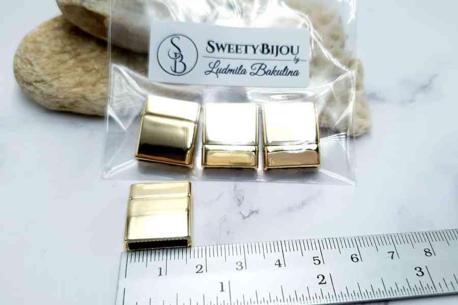 3 pcs set of golden color magnetic clasps (short) 2