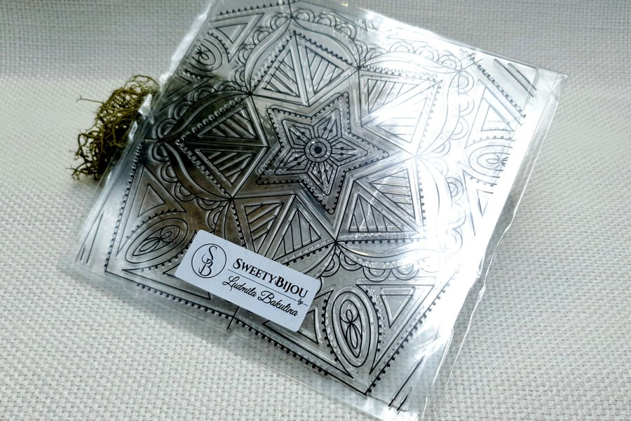 Mandala Star - Clear Silicone Stamp